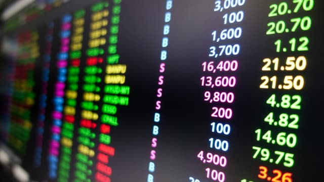 time lapse : stock market data ticker - trading screen stock videos & royalty-free footage