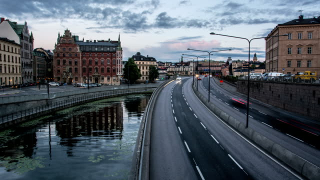 HD Time Lapse: Stockholm Central Bridge