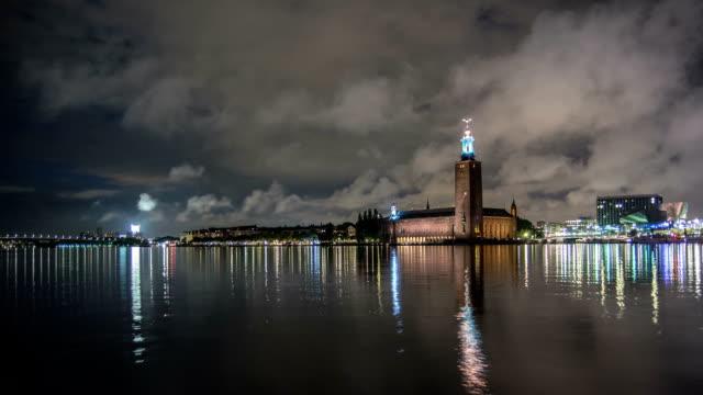 HD temps qui passe: Hôtel de ville de Stockholm en bord de mer