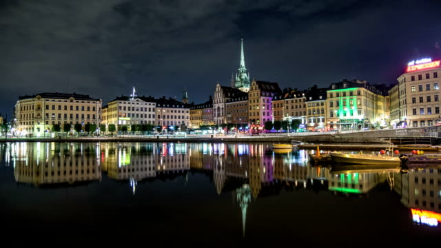 HD Time Lapse: Stockholm Old Town Skyline