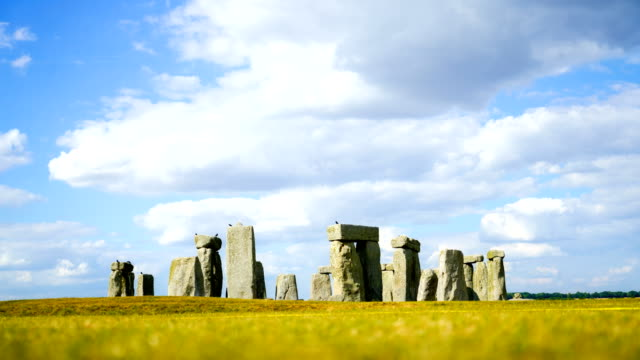 4k time lapse stonehenge in england in summer - stonehenge stock videos and b-roll footage