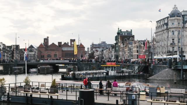 タイムラプス - アムステルダムの通りや運河、4kビデオ - 北ホラント州点の映像素材/bロール
