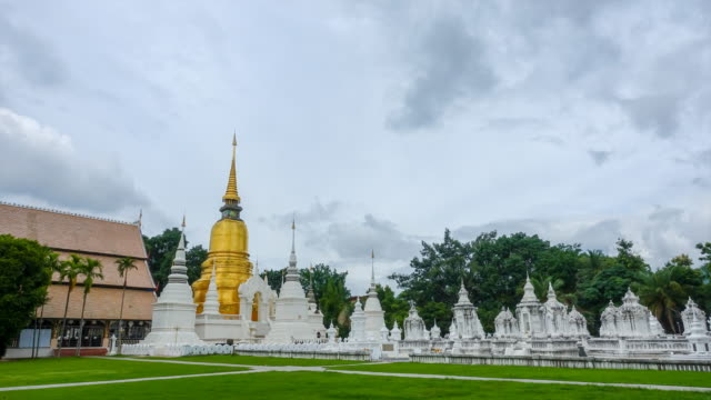 Time lapse : Suan Dok Temple in Chiang Mai Thailand