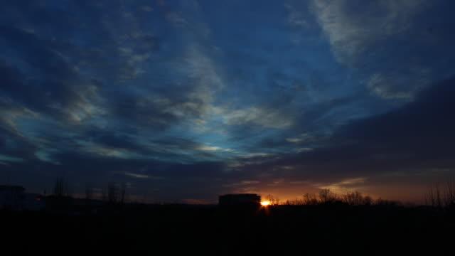 Time lapse sunrise in Madrid
