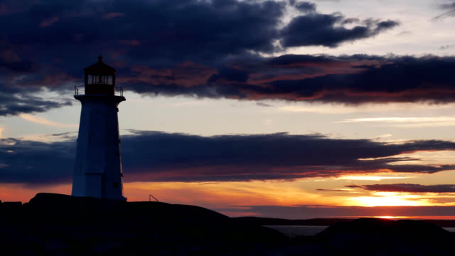 4K Time Lapse Sunset at Peggy's Cove