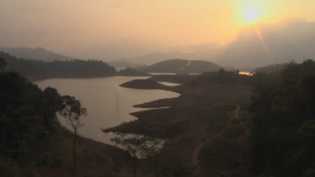 Time Lapse Sunset at Pookot Lake Kerala India