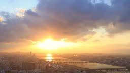 Time lapse sunset at Umeda Sky Building, Osaka