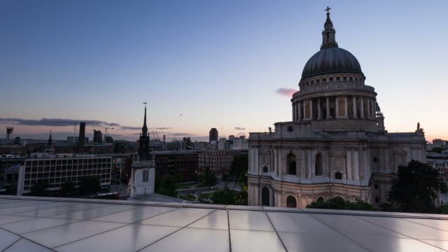 london - circa 2013: time lapse sunset of st paul cathedral  - 2013 stock videos & royalty-free footage