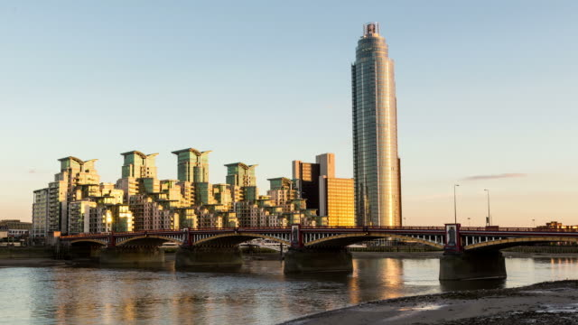 london - circa 2013: time lapse sunset of vauxhall - 2013 stock videos & royalty-free footage