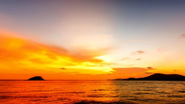 タイムラプス日没/の日の出の海。 - バージニア州 オレンジ市点の映像素材/bロール