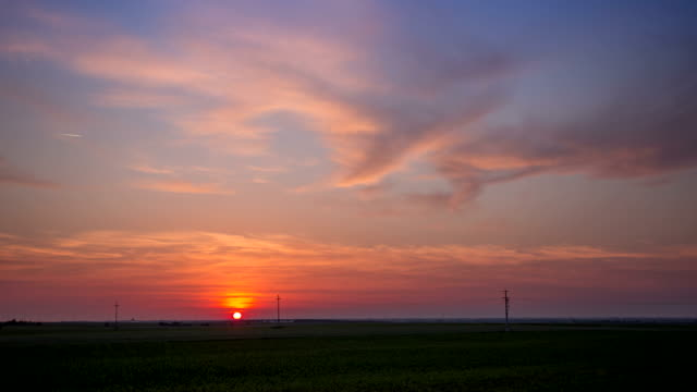 4K Time lapse - Sunset