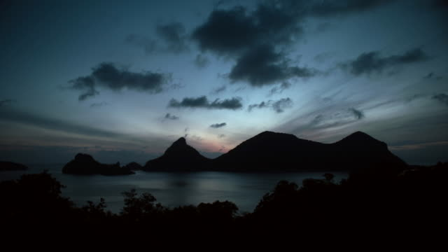 time lapse sunset - ko samui stock videos and b-roll footage