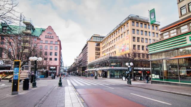 4K tidsfördröjning: Sverige Stockholm City Street