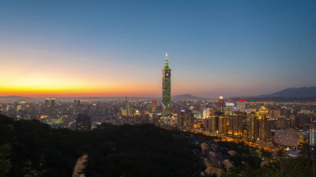 time lapse taipei city landscape - taipei stock videos & royalty-free footage