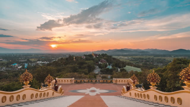 time lapse temple famous place landmark in chiang mai at sunset - tourism stock videos & royalty-free footage