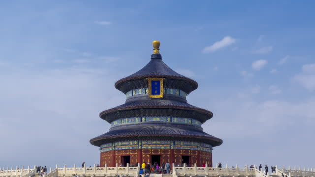 time lapse - temple of heaven,beijing - temple of heaven stock videos & royalty-free footage