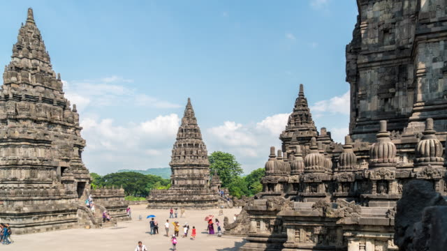 4K Time Lapse : Temple of Prambanan