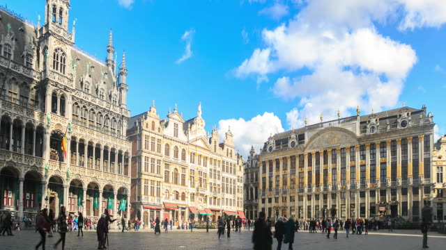 4k time lapse : the grand place - human settlement stock videos & royalty-free footage