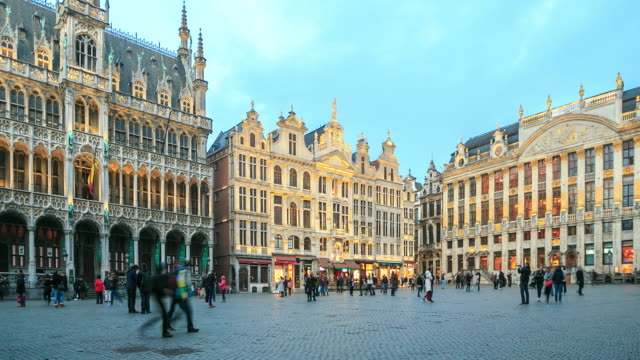 4K Time Lapse : The Grand Place