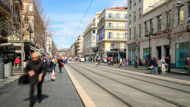 4K Time Lapse : the main street in Nice, French