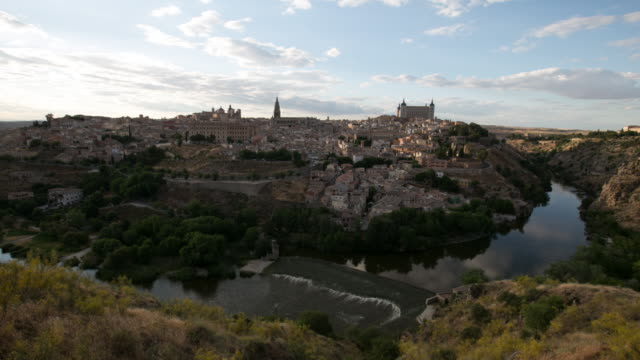 4K Time Lapse : The old spanish city Toledo