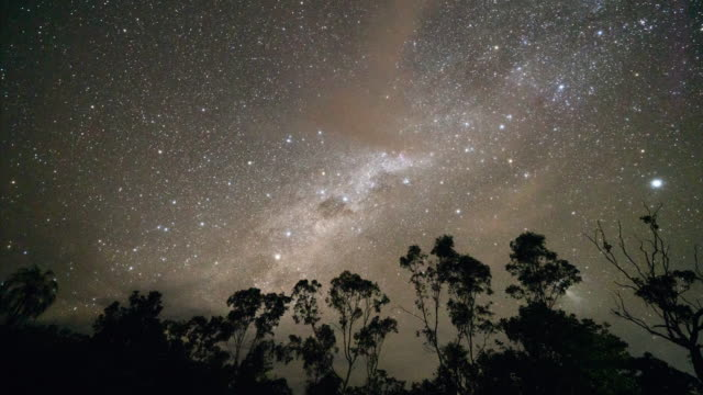 vidéos et rushes de time lapse: the stars in the night sky in australia - nitmiluk national park, australia - vip