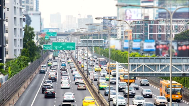 time lapse, the traffic during the daytime road bangkok thailand. - editorial stock videos & royalty-free footage