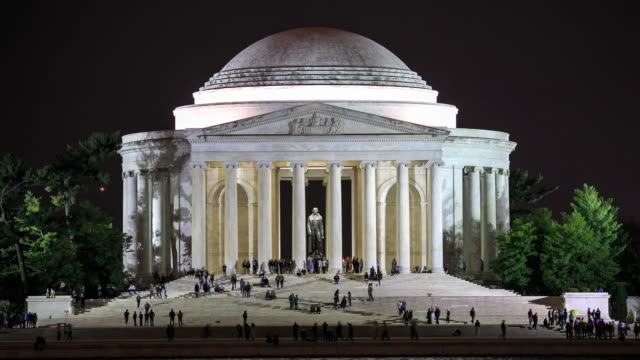 4k time lapse : thomas jefferson memorial - thomas jefferson stock videos & royalty-free footage