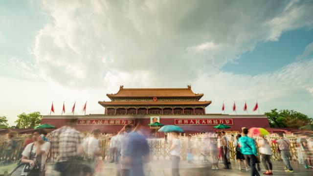 Tijd Lapse - Tiananmen Gate (WS LA pannen)