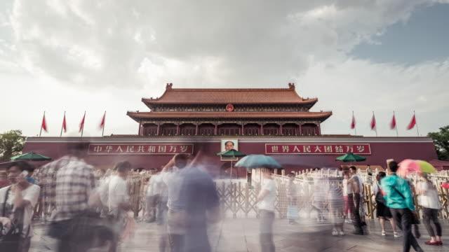 vidéos et rushes de time lapse - tiananmen gate (la zoom avant) - porte de la paix céleste