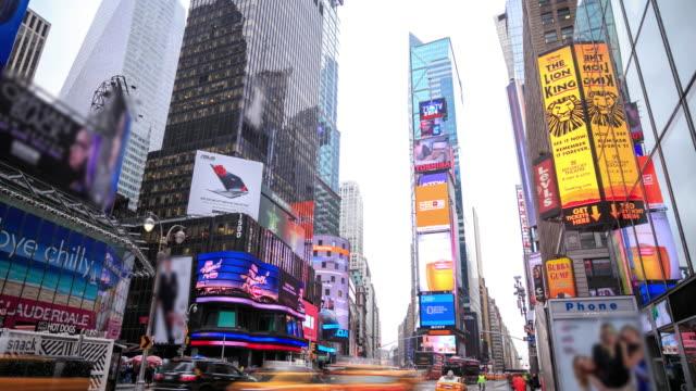 4 k 時間流逝: 紐約時報廣場 - high street 個影片檔及 b 捲影像