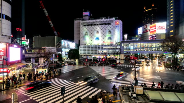 HD Time Lapse : Tokyo Shibuya Crossing, Japan