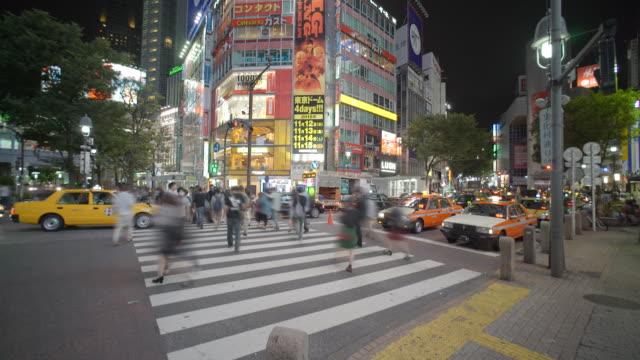 Tijd Lapse Tokyo Shibuya kruising