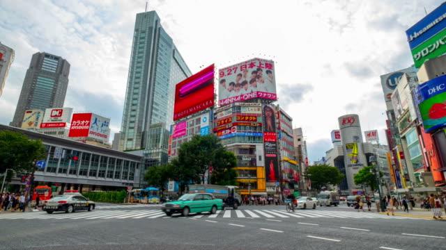 HD-Zeitraffer. Tokyo. Bahnhof Shibuya
