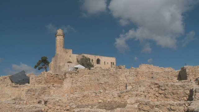time lapse, tomb of samuel national park, the traditional burial site of the biblical hebrew prophet samuel - palestinian territories stock videos and b-roll footage