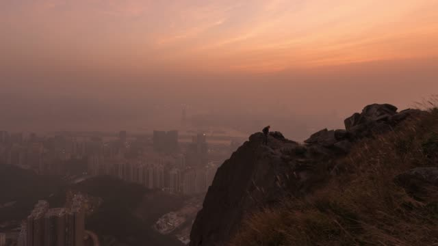 4K Time lapse : Top View Hong Kong