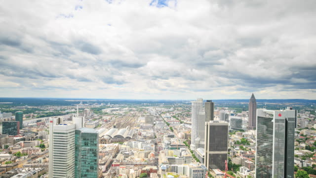 4K Time Lapse : Top view in Frankfurt