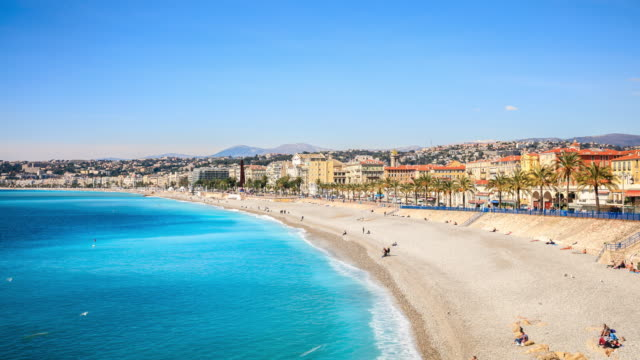 4K Time Lapse : Top view in Nice, France