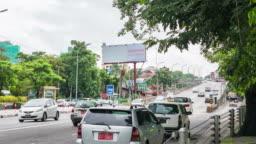 Time Lapse Traffic at Yangon in Myanmar