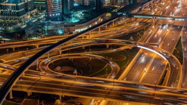 time lapse traffic in dubai - world's fair stock videos and b-roll footage