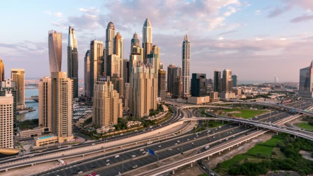time lapse traffic in dubai - dubai stock videos & royalty-free footage