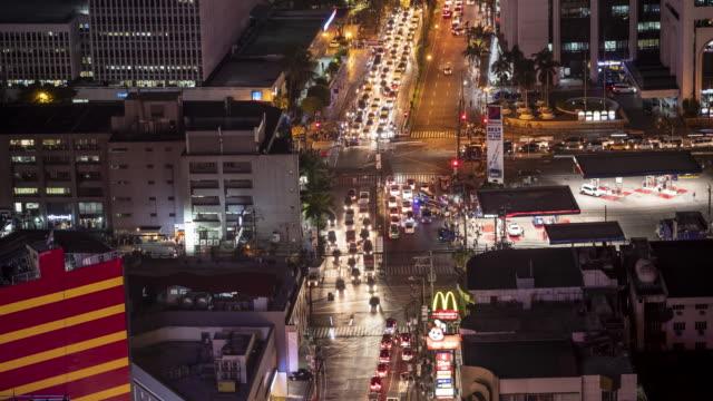 Time lapse traffic in Makati, Manila at night