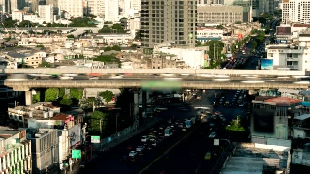タイムラプス、タイ、バンコクの交通渋滞道路。 - traffic jam点の映像素材/bロール