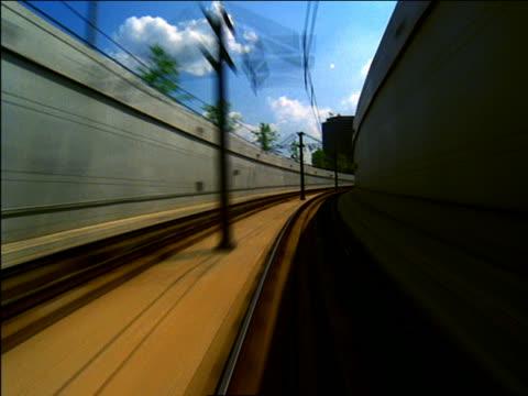 vidéos et rushes de time lapse trolley point of view thru tunnel / dallas - ligne de tramway