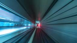 4K Time lapse Underground railways Fast Speed Motion