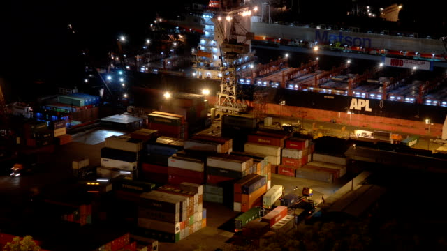 time lapse video - container port - labour party stock videos & royalty-free footage