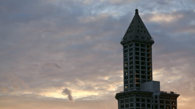time lapse - smith tower stock videos & royalty-free footage