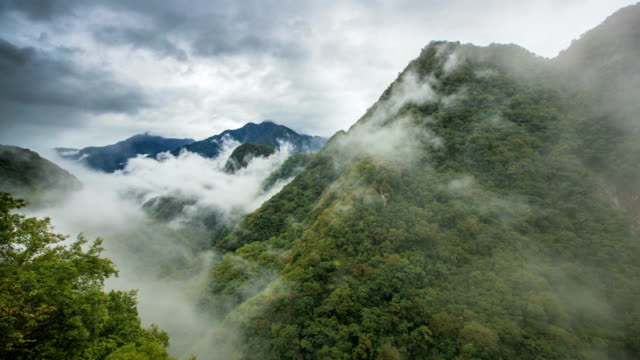 time lapse video in taroko national park - taiwan stock videos and b-roll footage