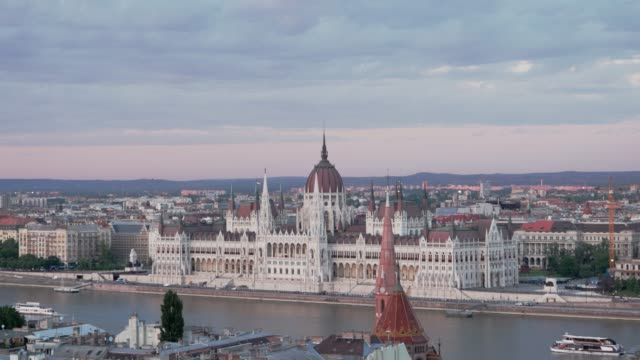 time lapse video of budapest parliament - eastern european culture stock videos & royalty-free footage