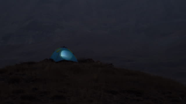 Time Lapse Video av Camping tält i utomhus